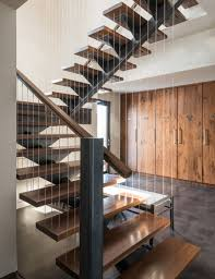 Great Design Ideas Of Modern Staircases. Good Looking Modern Staircase  Design features Brown