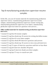 Top 40 Manufacturing Production Supervisor Resume Samples Impressive Production Supervisor Resume