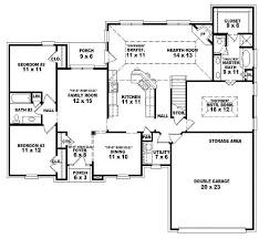 floor plan of a one story house. Single Story Open Floor Plans One 3 Bedroom 2 Bath French Within For A Plan Of House