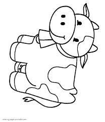 Try to color animals to unexpected colors! 47 Amazing Coloring Sheets For Toddlers Cow Image Ideas Samsfriedchickenanddonuts
