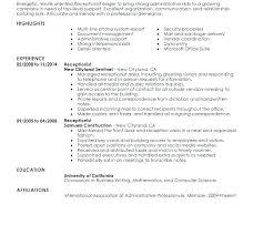 Medical Receptionist Resume Sample Classy Medical Receptionist Resume Healthcare Receptionist Entry Level