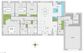 Maison Rectangle 4 Chambres