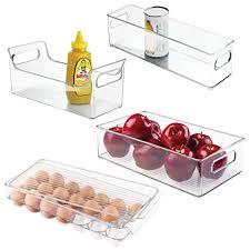 Mdesign Plastic Kitchen Pantry Cabinet Refrigerator Freezer Food Storage Organizer Bin For Fruit Drinks Snacks Eggs Pasta Combo Includes