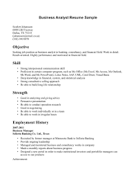 Resume For Analyst Job Objective For A Business Resume Internship In Finance Good Analyst 73