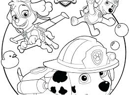 Paw Patrol Pics To Color Chase Coloring Pages Pictures Rubble Page