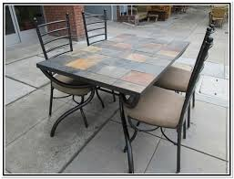 Tile Top Outdoor Table Elegant Lovable Patio Set Dining Room 7 Piece