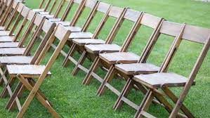 This folding adirondack chair is a perfect way to sit back in the great outdoors and take in the beauty of your backyard. Wooden Folding Chairs Rentals Online 4 Day