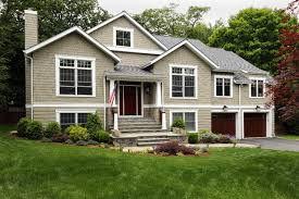 Inspiration for a craftsman exterior home remodel in New York