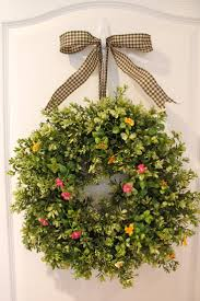 front door decor summerFront Door Wreath For Summer  Home