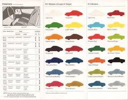 1973 Porsche Colors Brochure 1973 Porsche 911 Porsche