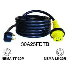 rv marine cords extension cords extension cords surge 25 ft 30 amp rv detachable power cord