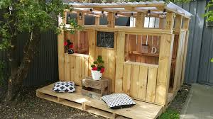 House Made From Pallets Our Diy Pallet Playhouse Simplicity Me P L A Y H O U S E