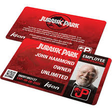 Badge – Custom Jurassic And - Ids Id Badges Employee Famous Card Park Cards