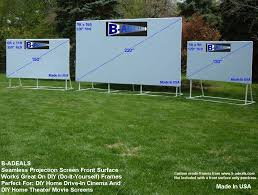 DIY Outdoor Movie Projector Projection Screen Material