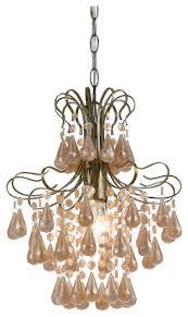 tiffany mini pink pearl chandelier