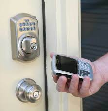 electronic front door lockUnlock and Lock Your Front Door From Your Cell Phone