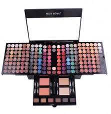 miss rose 180 color makeup kit eyes shadow eyebrow blusher powders