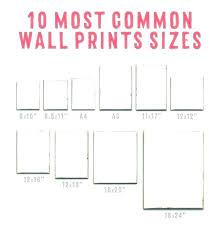 Poster Frame Size Standard Poster Frame Sizes Michaels