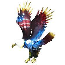 bald eagle 3d metal wall art