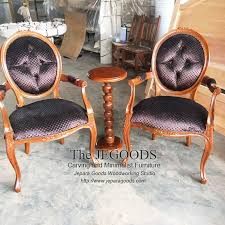 we produce french carving louis arm chair in natural finish carefully hand crafted by skilled indonesian crafter at affrodable frenchfurnit