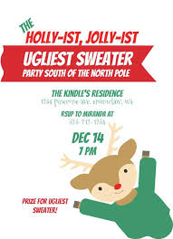 Holiday Invitation Wording Samples Invitation Rhymes Ugly Sweater