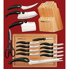 Oster Sherrington 22Piece Stainless Steel Cutlery Set With Block Walmart Kitchen Knives