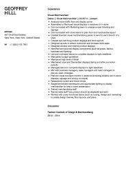 Visual Merchandiser Resume Sample Velvet Jobs Merchandising