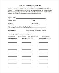 Income Verification Form Best 44 Wage Verification Forms Free Sample Example Format Download
