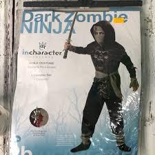 Dark Zombie Ninja Costume Nwt