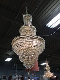 three tier gold crystal chandelier basket style 91899a jpg