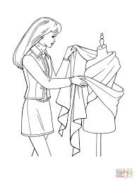 Small Picture Designing a Dress coloring page Free Printable Coloring Pages