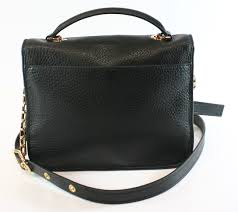 michael kors michael kors new black gold pebbled leather large cooper satchel purse com