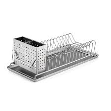 Plate drying rack Vertical Amazoncom Polder 611575 Compact Stainlesssteel Dish Rack With Utensil Holder 14 Amazoncom Amazoncom Polder 611575 Compact Stainlesssteel Dish Rack With