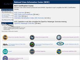 sex offender registry ncic search