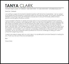 Assistant Cover Letter Sample Events Assistant Cover Letter Sample Cover Letter Templates Examples