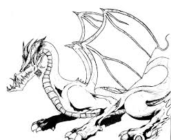 Flying Dragon Coloring Pages Kids Line Drawing Get Coloring Page