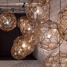 modern round ball pendant lamps american droplight silver gold copper pendant lights fixture hotel bar home indoor lighting restaurant lamp hanging light