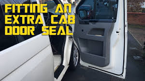 vw t5 campervan conversion fitting an extra front door seal