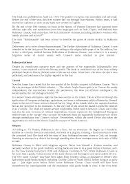 robinson crusoe riassunto e analisi in inglese docsity scarica il documento