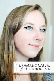 how to do a dramatic cat eye on hooded eyes