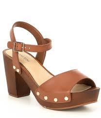 gianni bini renella two strap wood platform block heel sandals dillard s