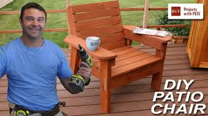 Diy Patio Furniture How To Build A Patio Chair Diy Outdoor Chair Build Youtube