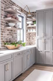 kitchen with gray cabinets why to