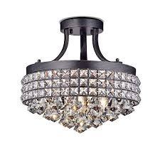 jojospring antonia 4 light semi flush mount chandelier with antique iron shade