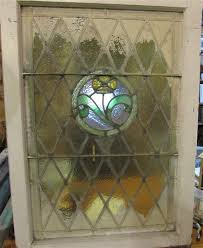 4452 vintage stained glass window