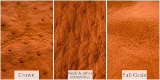 get to know the three diffe leather patterns found in every ostrich hide