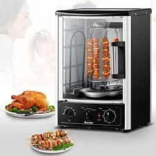 costway vertical rotisserie oven countertop rotating grill with bake turkey thanksgiving broil roasting kebab rack shawarma machine with adjule