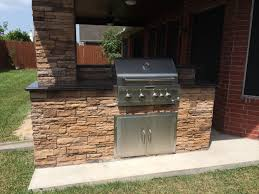 Complete Outdoor Kitchen Mills Outdoor Kitchen And Patio Project Houston