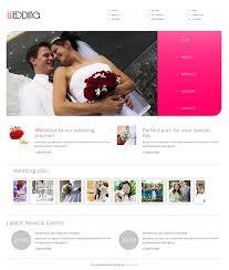 Free Wedding Website Templates Custom Free Planner Responsive Website Templates Dabeetz