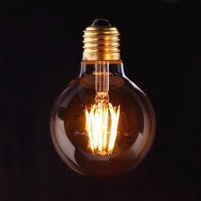 Bán bóng đèn led Edison 6w bóng tròn màu vàng